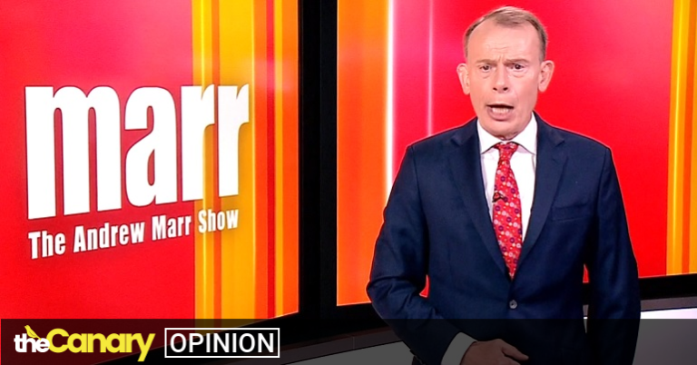 It took Marr less than a minute to expose his Tory colours