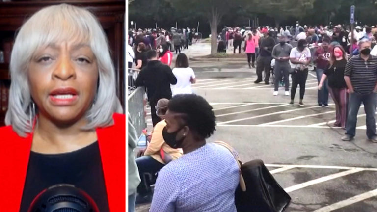 """Read more about the article """"Fighting for Democracy"""": Carol Anderson on Voter Suppression & Why Georgia Could Go Blue"""