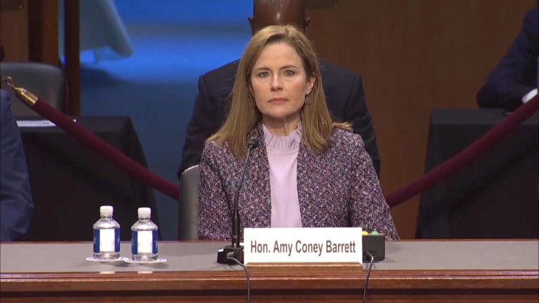 Read more about the article Amy Coney Barrett Won't Say Climate Change Is Real; Forgets 1st Amendment Protects Right to Protest