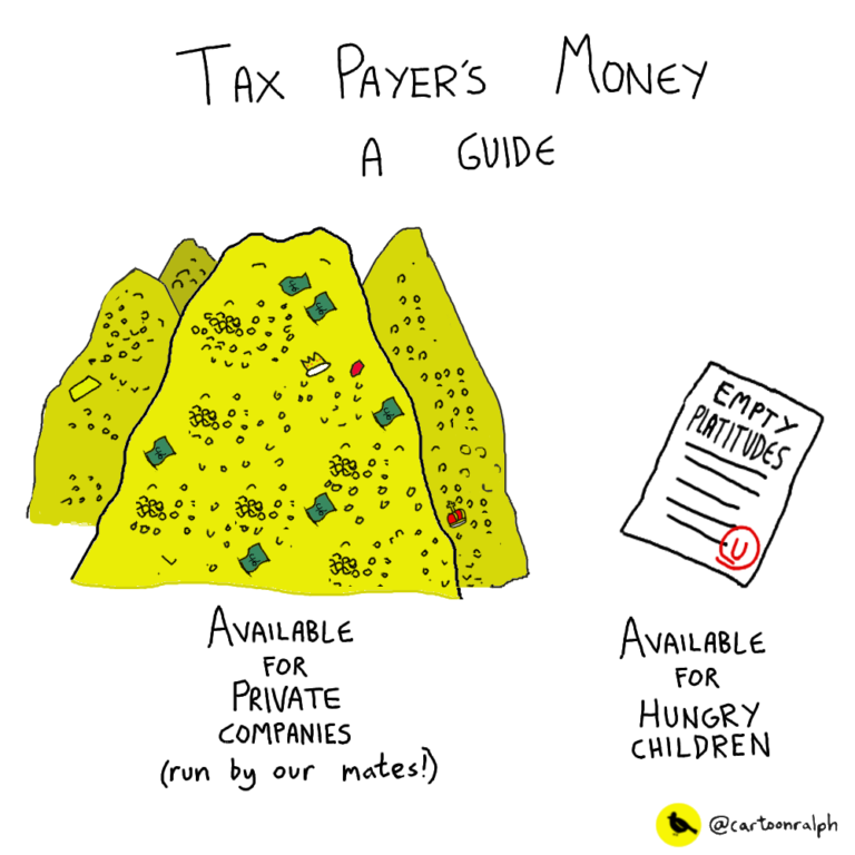 Taxpayer's money available for companies vs kids
