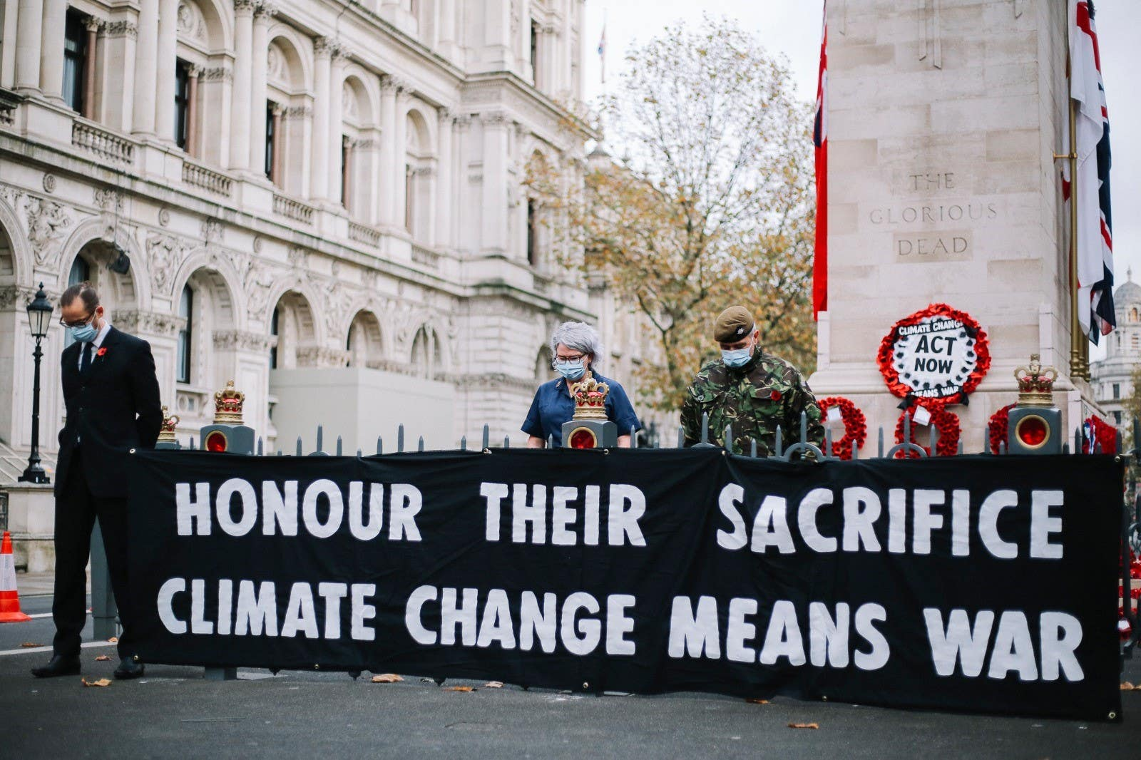 Extinction Rebellion in climate change protest at Cenotaph