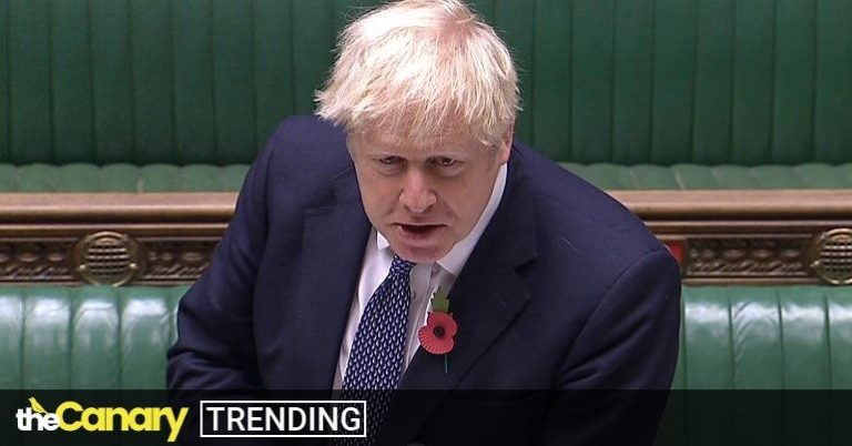 Read more about the article Boris Johnson sat directly on the US election fence at PMQs