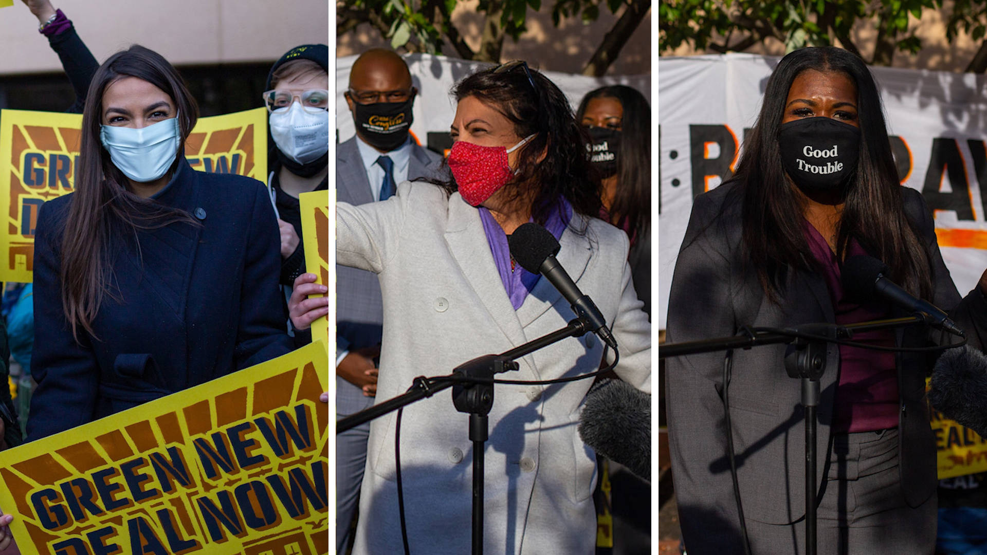 "Biden Be Bold: AOC & Cori Bush Join Climate Protest Outside DNC Urging Activists to ""Bring the Heat"""