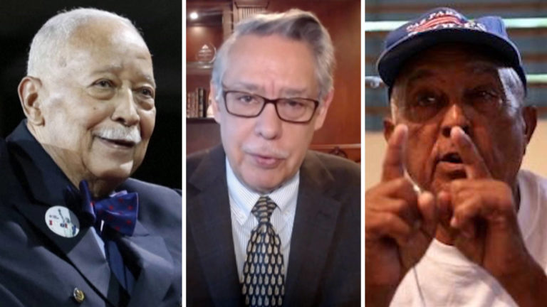 """Read more about the article Juan González Remembers NYC's Only Black Mayor David Dinkins & Vieques Activist Carlos """"Taso"""" Zenón"""