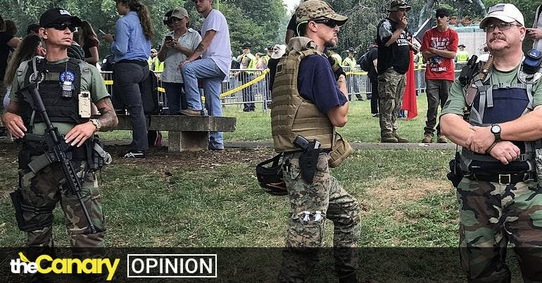 Donald Trumps's flirtation with white supremacist militias is a tried and tested fascist tactic