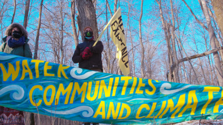 Read more about the article The Pandemic Pipeline: Land & Water Defenders Continue Resistance to Enbridge Line 3 in Minnesota