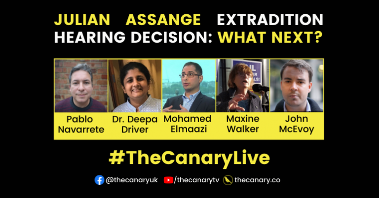 Read more about the article #TheCanaryLive – Julian Assange extradition hearing decision: what next?