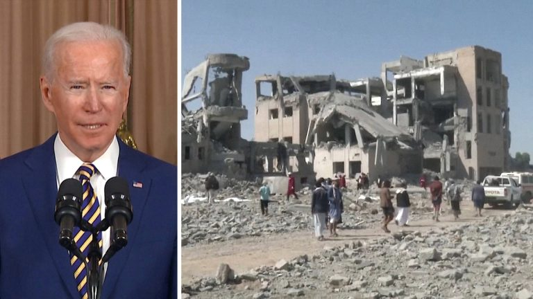 Read more about the article Yemen: Biden to End U.S. Offensive Support for Saudi-Led Assault, But Will the War Actually End?