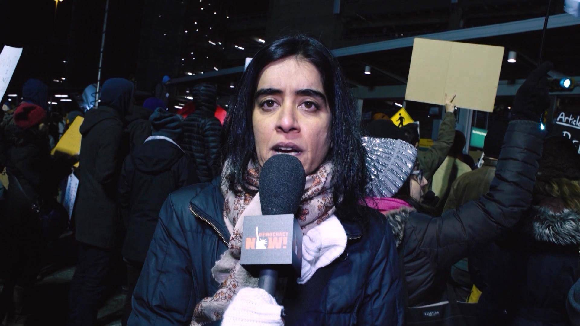 """Read more about the article """"No Hate! No Fear!"""" Democracy Now! Co-Host Nermeen Shaikh Celebrates 10 Years Covering War & Peace"""