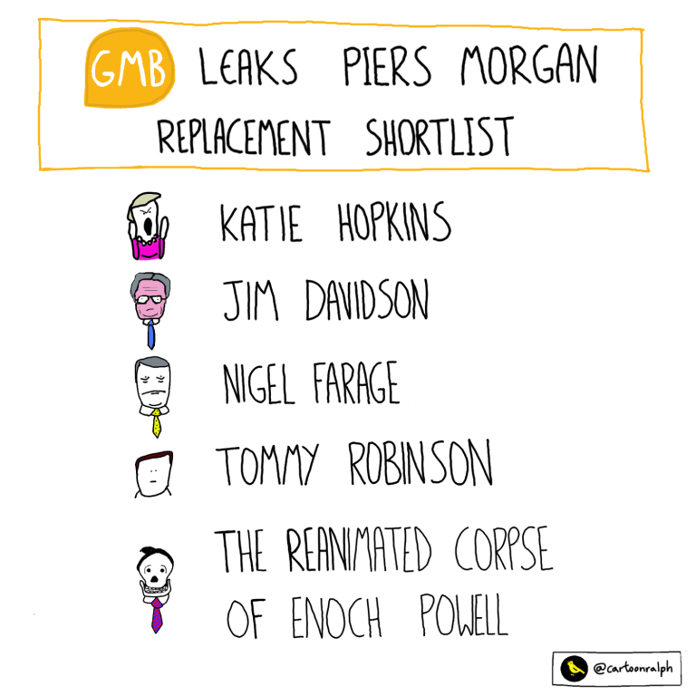 Read more about the article GMB leaks Piers Morgan replacement shortlist