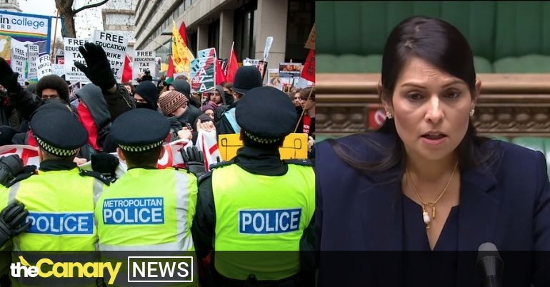 You are currently viewing One sentence from Priti Patel about the policing bill makes a mockery of government support for women