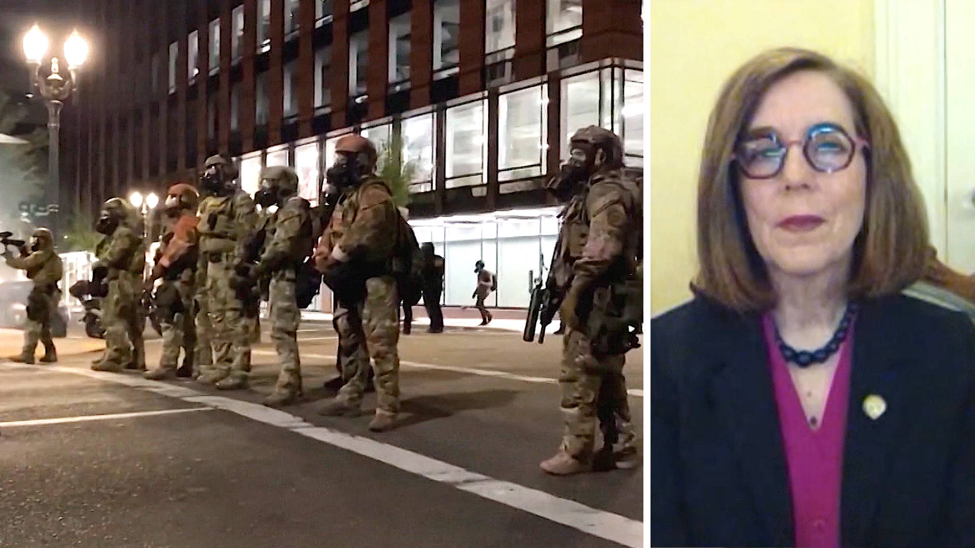 """Read more about the article """"Abhorrent"""": Oregon Gov. Kate Brown on Trump's Treatment of Portland Protesters vs. Insurrectionists"""
