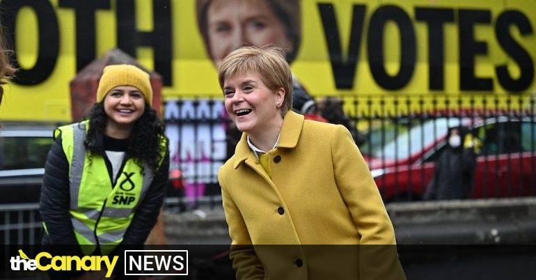 Read more about the article Sturgeon meets voters at polling station and supports former refugee candidate