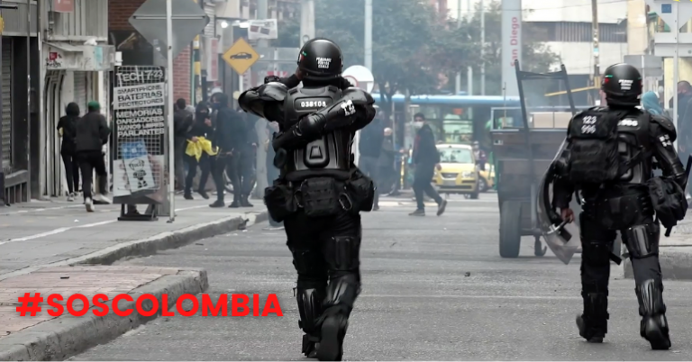 Read more about the article Colombian security forces are massacring people on the streets