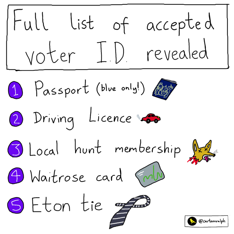 Read more about the article Full list of accepted voter ID revealed