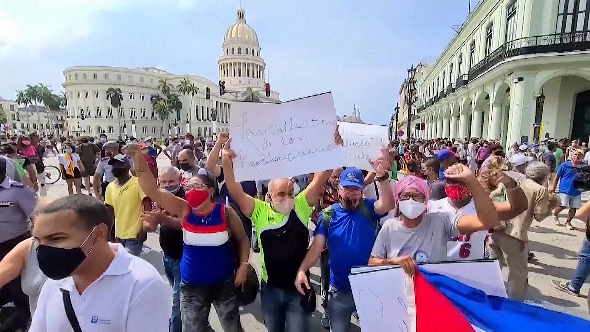 """Read more about the article """"We Just Want the Basics"""": Rare Protests in Cuba Amid Deep Economic Crisis, Ongoing U.S. Blockade"""