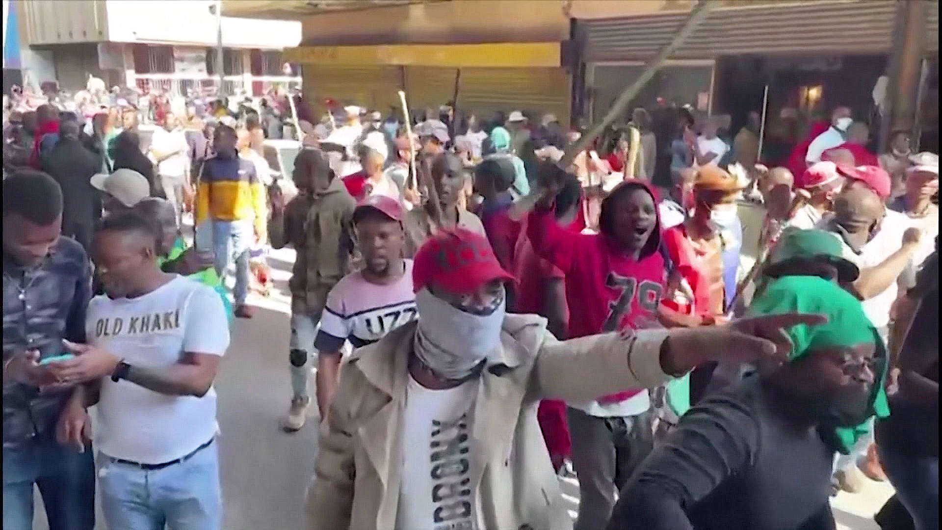 """Read more about the article """"Perfect Storm"""" of Pandemic, Poverty & Jailing Ex-President Unleashes Mass Protest in South Africa"""