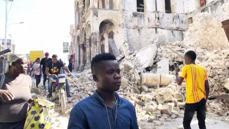 Read more about the article Haiti: 1,300 Die in Earthquake as Nation Is Still Recovering from 2010 Quake & Killing of President