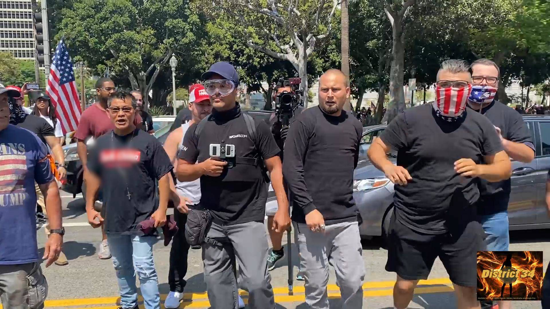 Read more about the article Proud Boys & Far-Right Groups Tied to Jan. 6 Attack Reporters & Others at Anti-Mask, Anti-Vax Rally