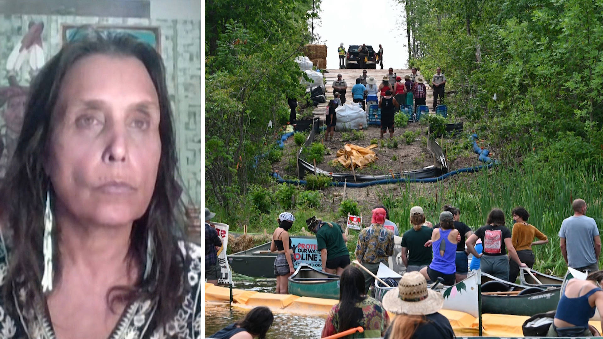 """Read more about the article """"People vs. Fossil Fuels'': Winona LaDuke & Mass Protests Call on Biden to Stop Line 3 Pipeline"""